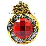 نوع ذهب جيب ساعة مع حجر كريم حمراء لأنّ سيدات