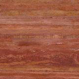 25mmの赤のTravertineの石の合成アルミニウム蜜蜂の巣のパネル