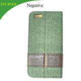 Cubierta de cuero de lujo del caso del soporte del tirón del portatarjetas de la carpeta de la caja del teléfono