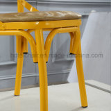 Stackable стул венчания задней части креста металла для банкета