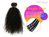 비꼬인 컬 브라질 Virgin 머리 100% 사람의 모발 검정 색깔