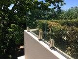 Inferriate del balcone dell'acciaio inossidabile e di vetro di disegno moderno di alta qualità