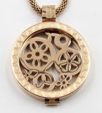 Locket de mémoire d'or de Rose pour le bijou de collier de mode