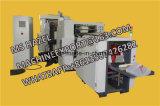 ラインの2つのカラーFlexoの印字機が付いている機械を作るクラフト紙GSM 50の紙袋