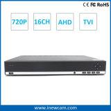 16CH 720p CCTV H. 264 잡종 CCTV 비디오 녹화기