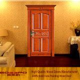 Porta de entrada de mogno da madeira contínua para o apartamento (GSP2-044)