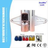 Controlo Remoto biométricos fechadura da porta de vidro com placas de varredura
