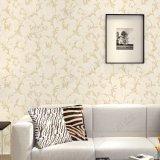 Papier peint imperméable à l'eau de PVC de grande de fleur damassé de luxe de modèle à vendre