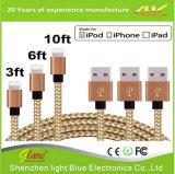 Горячий кабель с оплеткой сбывания для iphone