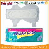 Surface à maillage sec Lady des serviettes hygiéniques, les femmes de serviettes sanitaires