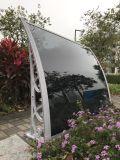 luifel van de Schuilplaatsen van het Blad van het Polycarbonaat van de Steun van 1.0m de Plastic met de Strook van het Aluminium