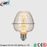 bulbo de cristal retro del filamento de la bombilla de Edison del bulbo ahorro de energía caliente del blanco E27 220V del bulbo de 3W LED para el bulbo estrellado del bulbo casero LED de la decoración