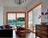 贅沢なバルコニーの木カラー(pH8805)のアルミニウムスライドガラスドア