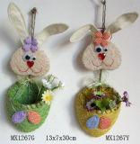Decoração de Páscoa - Cesta de coelho (MX1267)