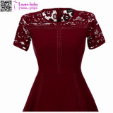 Sexy Vintage Summer Lace Round Neck manga curta Princess A Line Tea Dress L36173-1