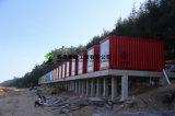 鉄骨構造のプレハブの容器のホテル