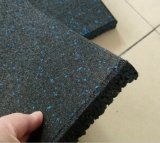 EPDM Gym Floor Rubber Tiles, Crossfit Rubber Gym Floor Azulejo