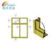 Espulsione di alluminio di profilo di prezzi di fabbrica di 6000 serie per la finestra ed il portello