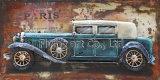 スポーツ・カーのための油絵3 Dの金属の壁の装飾