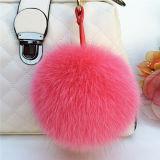 Fake Fox Fur pompom party decoração Saco chaveiro