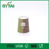 Tazas de papel de Disposablecoffee de la alta calidad revestida de un sólo recinto del PE con insignia