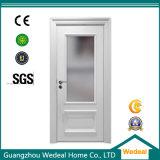 Portes de panneau intérieures en bois blanches avec le panneau en verre