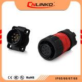 발광 다이오드 표시를 위한 Cnlinko Ym20 7pins 남성 그리고 여성 원형 고압선 연결관