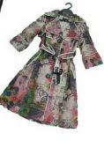 2009 der Herbst Outwear neuer StylePrinting Frauen-Staub-Mantel