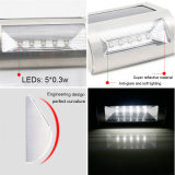 Energía Solar 5 LEDs Luz de pared de acero inoxidable lámpara inalámbrica