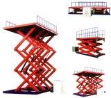 Plataforma de trabajo hidráulica fija, mesa de trabajo de elevación de tijera