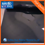 Il nero dello strato del PVC di 250 Mircon, strato rigido nero del PVC del Matt