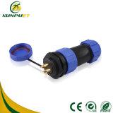 Macho aos conetores elétricos redondos do fio fêmea para o indicador de diodo emissor de luz