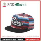 O chapéu colorido do Snapback com 3D bordou