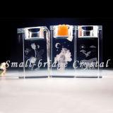 Sostenedor de vela cristalino de la Navidad (ZT0049)