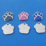 Hot Sale chien Paw Glitter Tags ID Pet