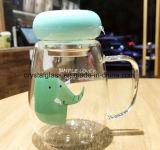 Bottiglia di acqua del fumetto con il marchio di abitudine della maniglia