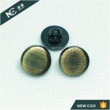 Usine de vente chaud classique bouton de queue de fixation de couture en alliage de zinc