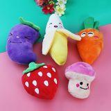 Fruit petit chien de jouets en peluche construit-sons de papier personnalisé dans les animaux de compagnie un jouet en peluche