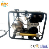 Il compressore d'aria subacqueo portatile di elettricità/diesel/di immersione con bombole di pressione bassa di funzionamenti barra di Gasolins 8 per immersione subacquea respira