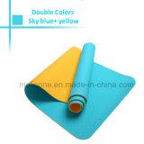TPE двойной цвета Установите противоскользящие водонепроницаемый йога коврик для фитнеса