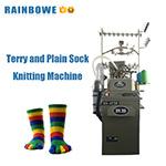 3,75 pouces, deux -Utilisez Terry et de la plaine Rb-6machine à tricoter Socks FTP