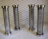 Tubo do filtro perfuradas de aço inoxidável difícil dobrar e cravar