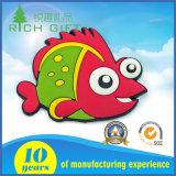 La vente directe en PVC personnalisée en usine de caoutchouc de la résine en 3D Anime Cartoon aimant de souvenirs Fridge Magnet