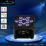 China 12*18W 6en1 Rgbaw UV LED inalámbrico recargable Luz PAR