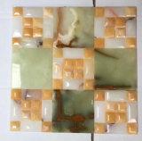 Onyx van China mengde het Zwarte Natuurlijke Opgepoetste Marmeren Mozaïek van het Kristal van het Patroon van het Zwembad van de Steen Glas Getuimelde