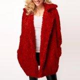 Singolo cappotto lungo rosso del manicotto di Breasted