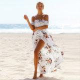 長の海岸浜の服の袖なしの管の印刷の服
