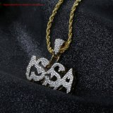 Men's fabrique de bijoux en gros Direct or 18K le Hip Hop collier Bling Bling Issa Poignée de commande