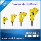 L'escavatore parte il martello idraulico dell'interruttore