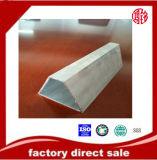 perfil de aluminio del canal del tubo del tubo de la protuberancia 90series para la ventana y la puerta
